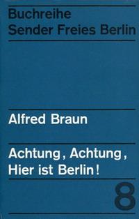 Buchtitel Alfred Braun