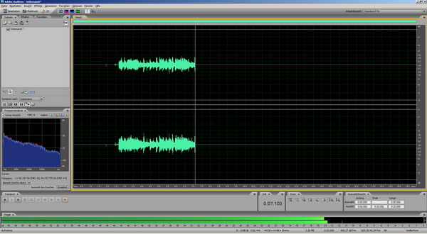 Aufnahme in Adobe Audition