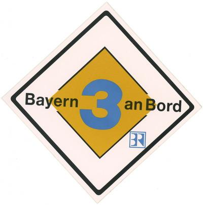 Bayern 3 an Bord Aufkleber