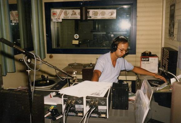 Bernd Schwintowski im Studio von Radio 1