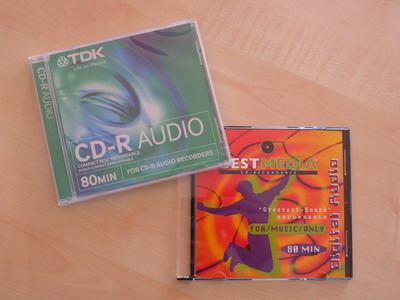 verschiedene Compact Discs