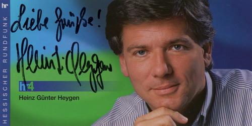 Autogrammkarte Heinz Günter Heygen