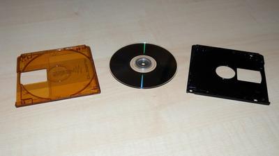 geöffnete MiniDisc
