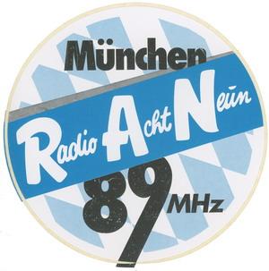 Radio Acht Neun Aufkleber