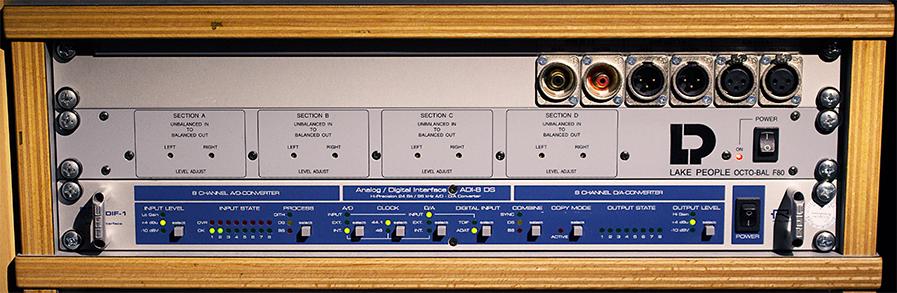 RME ADI-8 DS und Lake People OCTO-BAL F80