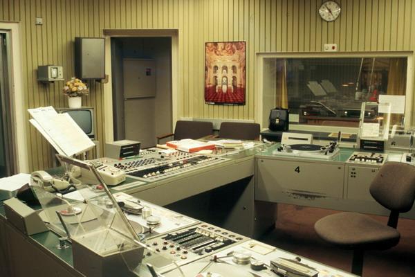 Sendekomplex im Bayerischen Rundfunk in den 1970er Jahren