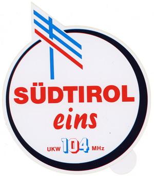 Südtirol 1 Aufkleber