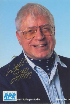 Autogrammkarte Walter Fuchs Radio RRP Zwei