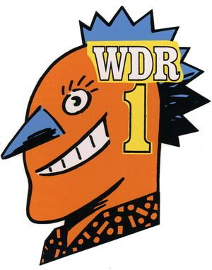 WDR 1 Aufkleber